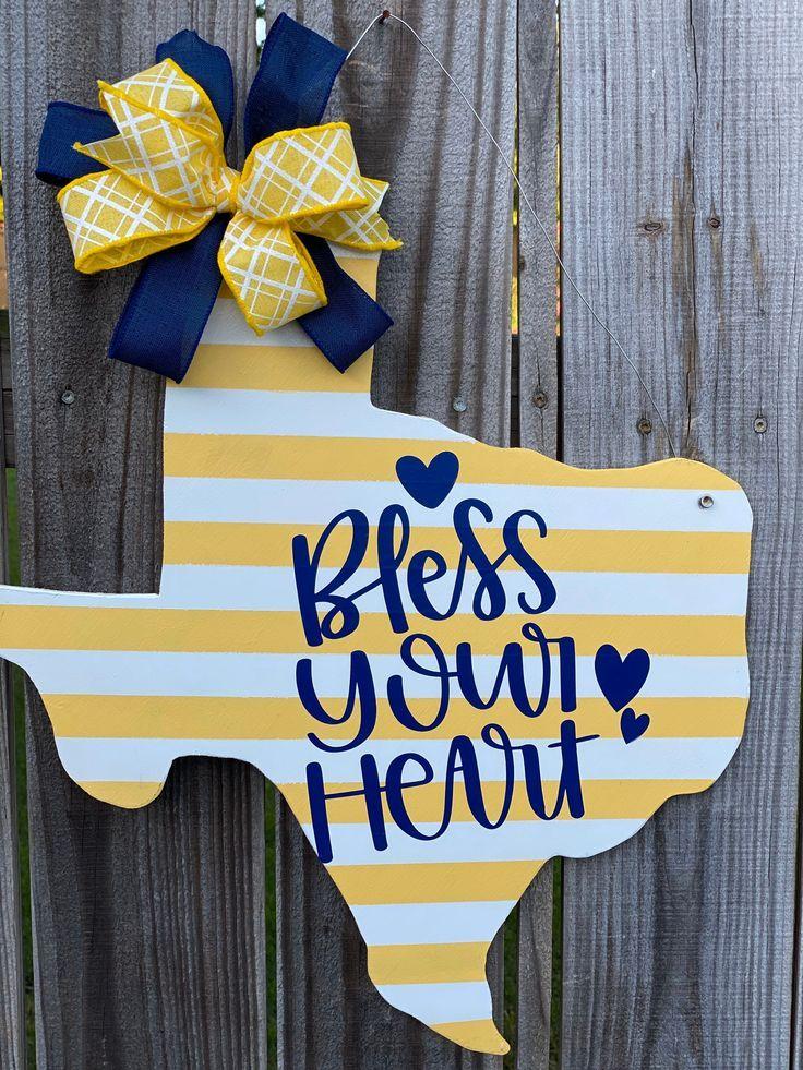 Bless Your Heart Texas Sign Rustic Texas Decor Texas Wall