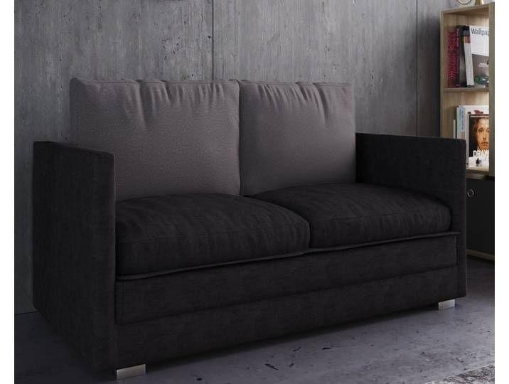 Vcm 2er Couch Mit Schlaffunktion Ondal Schwarz Schwarz Home Decor Furniture Sofa