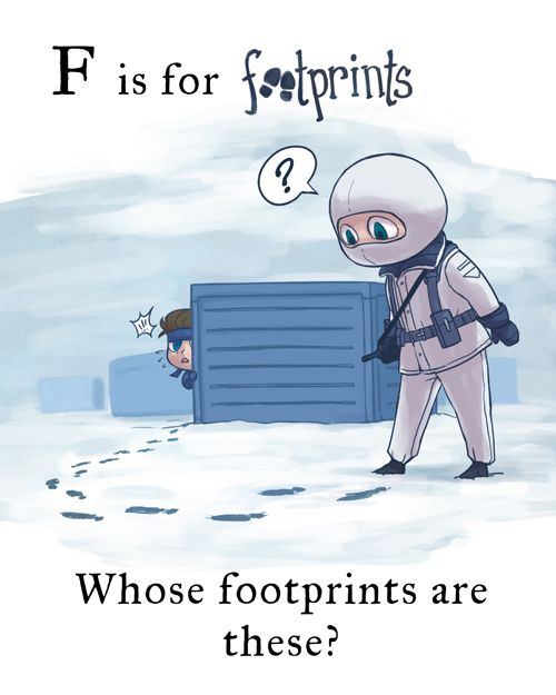 MGS - F is for footprints by FerioWind