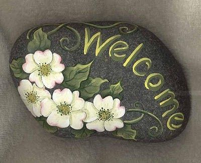 ROCK PAINTING   hand crafts oasis  If you can't grow it...paint it...