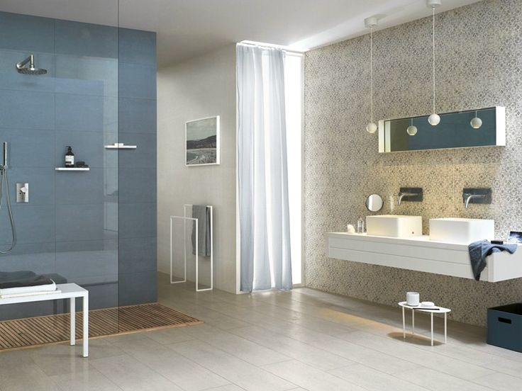 Porcelain stoneware wall/floor tiles with concrete effect CONCEPT by Ragno - Marazzi Group