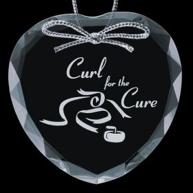 """Promotional Products Ideas That Work: Optical Ornament - Heart 3"""". Get yours at www.luscangroup.com"""