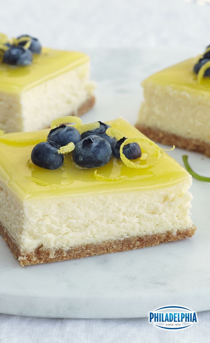 These Double-Lemon Cheesecake bars topped with blueberries will make you do a double-take.  If these aren't your favorite Easter dessert, they should be.
