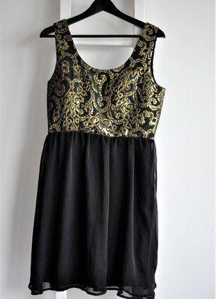 Kup mój przedmiot na #vintedpl http://www.vinted.pl/damska-odziez/sukienki-wieczorowe/17043423-medicine-l-m-czarna-jak-nowa-sukienka-barok-zwiewna-wieczorowa-tiul-zloto-barok-zlota-aplikacja