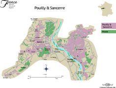 Pouilly & Sancerre wine map