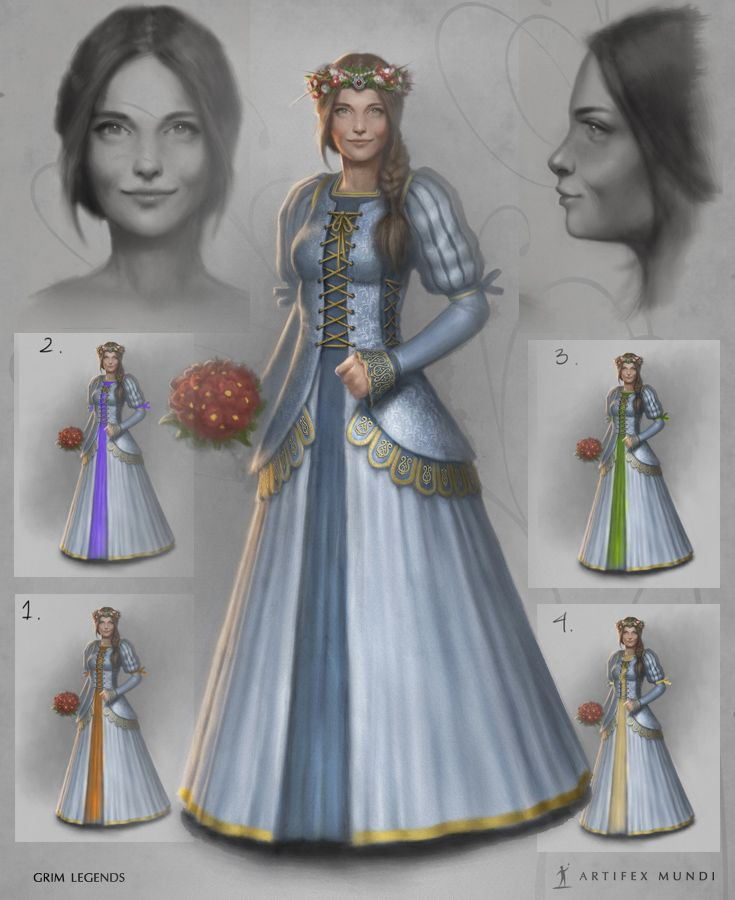 Choosing the right dress is a big challenge for every bride. Changing any smal detail can make it look completely different.  #artifexmundi #fashion #character #adventure   http://www.artifexmundi.com/