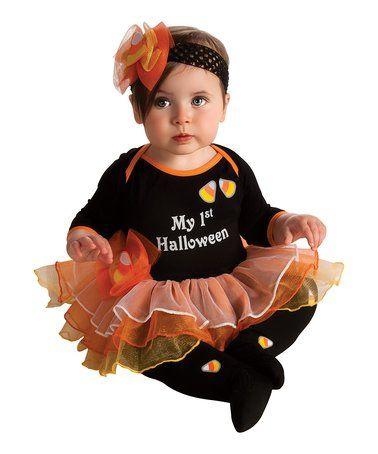 Loving this Black & Orange 'My 1st Halloween' Tutu Dress-Up Set - Infant on #zulily! #zulilyfinds