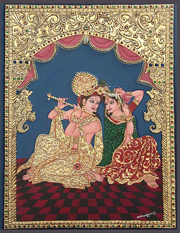 TANJORE PAINTING by akshita aggarwal, via Behance