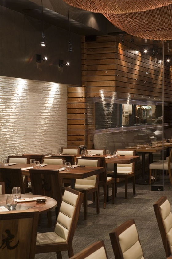 the tiger restaurant with natural wood from icrave - Medium Wood Restaurant Decor