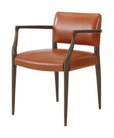 Luccio Arm Chair  Contemporary, MidCentury  Modern, Transitional, Upholstery  Fabric, Leather, Wood, Dining Chair by Julian Chichester