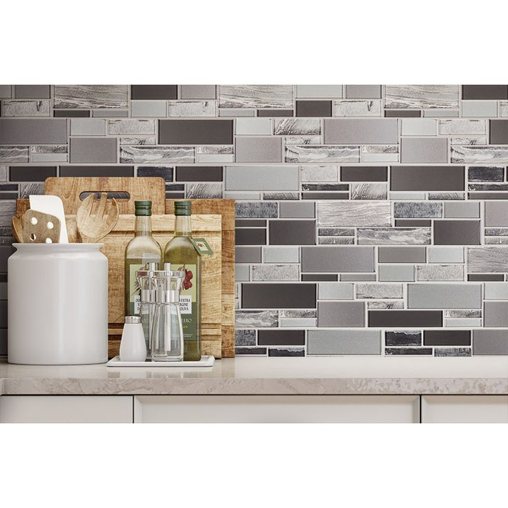 Shop Elida Ceramica Laser Sky Glass Mosaic Subway Indoor Only Thinset Mortar Wall Tile (Common: 12-in x 13-in; Actual: 11.75-in x 11.75-in) at Lowes.com