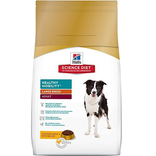 Hills Science Diet Adult *Healthy Mobility Large Breed dog food provides precisely balanced easy-to-digest nutrition to improve mobility & joint health in large breed dogs.   Health Benefits:Joints L...