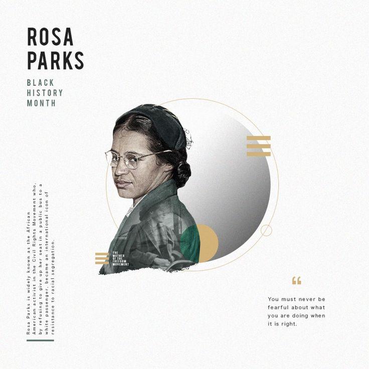 Rosa Parks Black History Month.