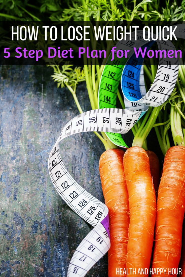 How to Lose Weight Quick - A 5 Step Diet Plan for Women | Health and Happy Hour