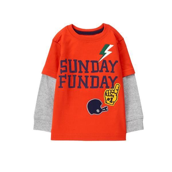 Toddler Boy Overtime Orange Sunday Funday Tee by Gymboree