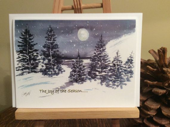 Stars at night  winter cold night holiday by PattiPettysCards