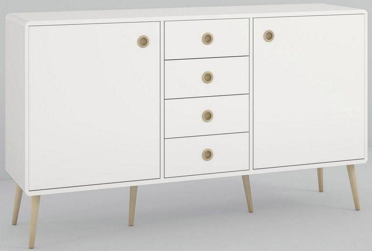 Home affaire Sideboard »Softline«, Breite 153 cm für 379,99€. 2 Türen, 4 Schubkästen, Maße (B/T/H): 153/40/89 cm, FSC®-zertifizierter Holzwerkstoff bei OTTO