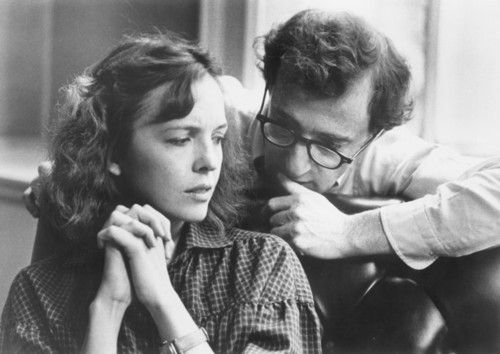 "Director Woody Allen discusses a scene in ""Interiors"" (1978) with Diane Keaton."
