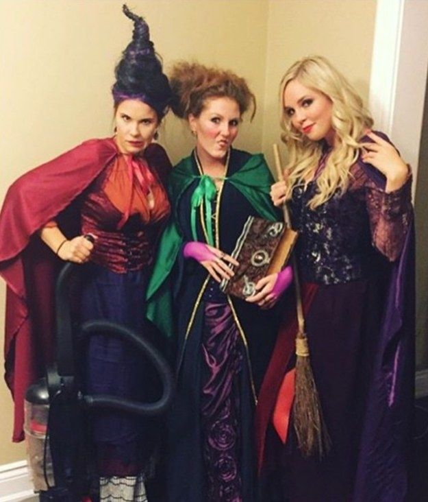 These Sanderson Sisters who will DEFINITELY put a spell on you: | 35 Borderline Genius Halloween Costumes For Movie Lovers
