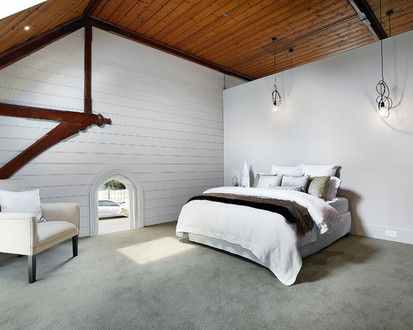 Residential Church Conversion, Contemporary Bedroom, Melbourne