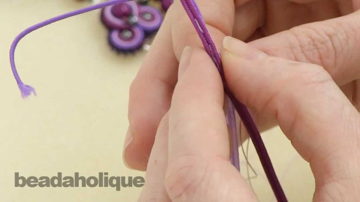 How to do Soutache Bead Embroidery: Part 1 How to Make a Shaping Stitch