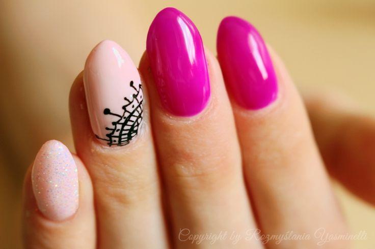 Manicure Hybrydowy: Ni fiolet ni fuksja Semilac 034 Mardi Gras. | Rozmyślania Yasminelli