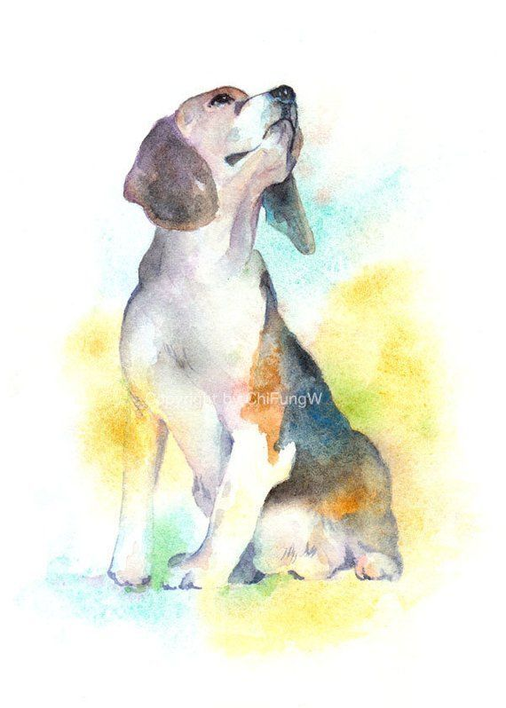 Dog Dog Print Animal Print Giclee Art Watercolor Watercolor
