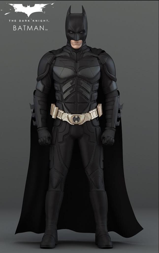 Batman TDK Cowl and Batsuit Pepakura Files