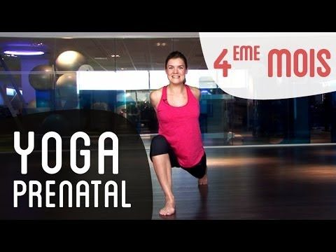 Yoga prénatal 4eme mois de grossesse -- salutation au soleil - YouTube
