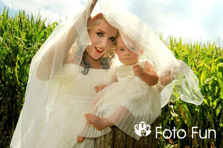 Jamie, Trash the dress, with baby Alanna