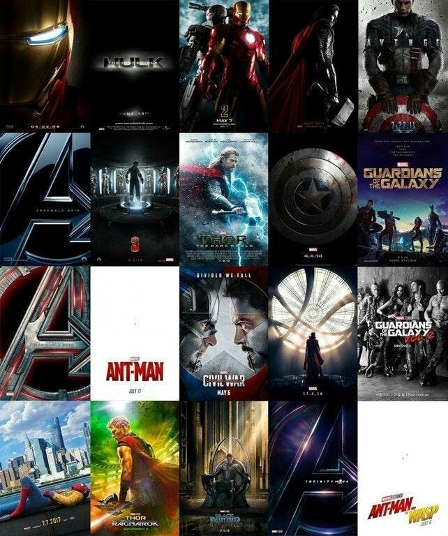 All the Marvel Cinematic Universe Teaser Posters in One Image