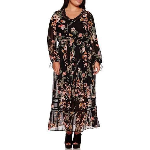 BELLE + SKY™ Long-Sleeve Boho Maxi Dress - Plus