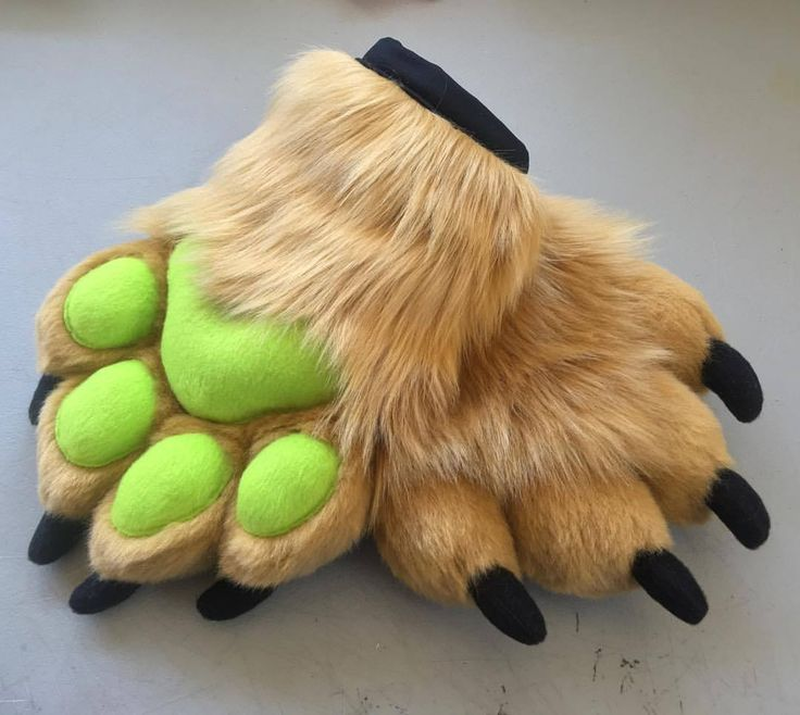 Done and done! This Monster style handpaw commission is made with Carmel fur, Lime Green fleece pawpads and Black fleece claws! ✨✨✨✨✨✨✨✨ #furrycommunity #handpaws #furry #fursuit #furryfandom #paws