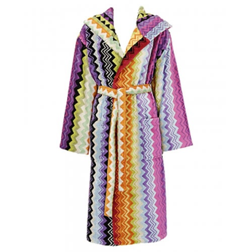 Giacomo Medium Hooded Robe in Pink or Earth Tones by Missoni Home