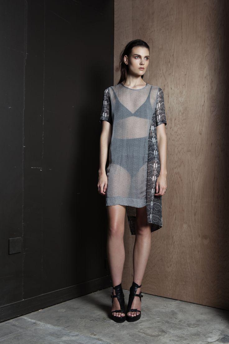 Dark Entries Dress  #silk #dress #print #handsprint #transparent #companyofstrangers