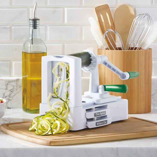 """A spiral vegetable cutter to make healthy """"pasta."""""""