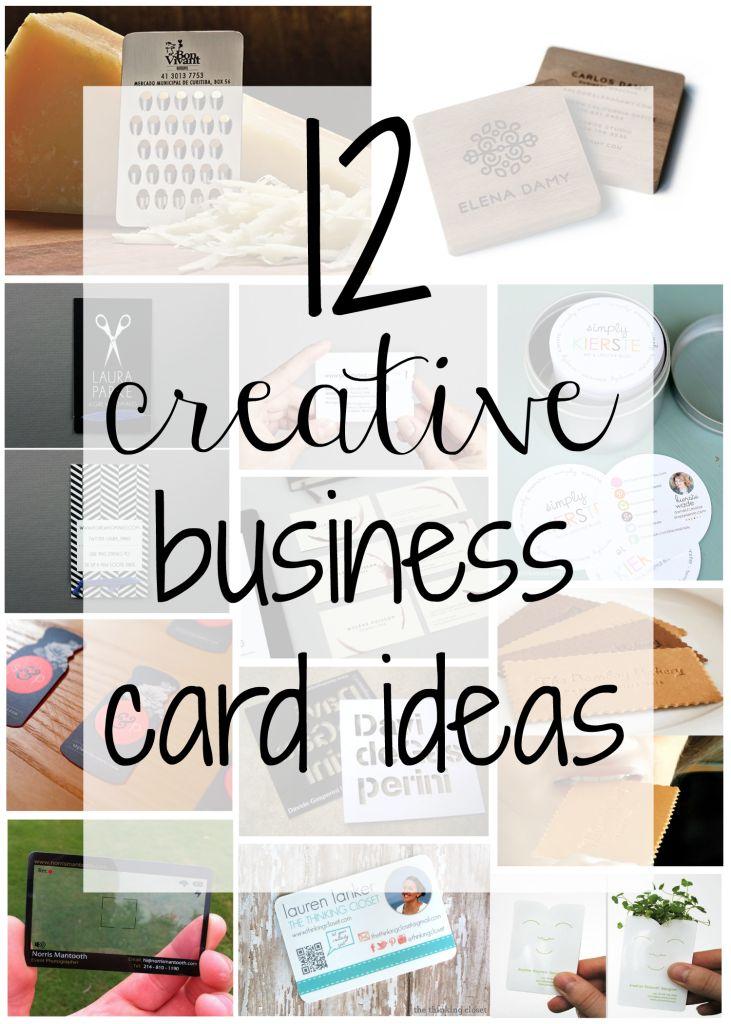 12 creative business card ideas