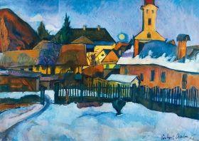 Perlrott-Csaba Vilmos - Nagybányai tél, 1920-as évek közepe