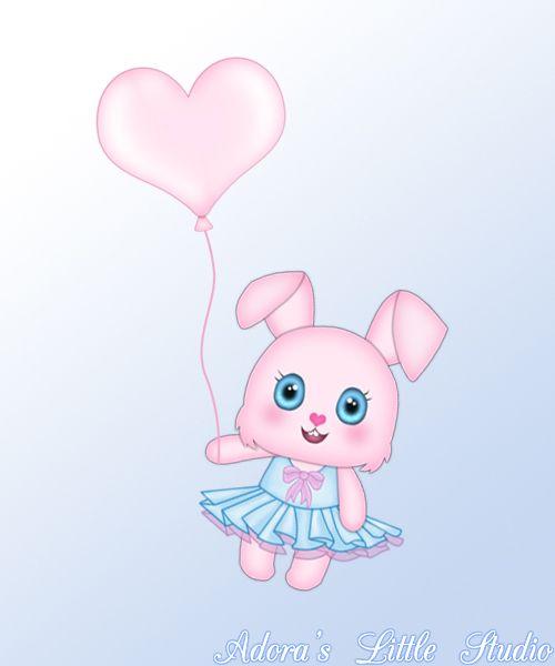 ❤ Happy Birthday Cute Video eCard Animation Teaser #3 ❤ ~kawaii ~bunny ~balloon ~pink ~blue ~girly ~heart