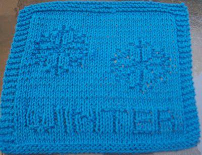 DigKnitty Designs: Winter Knit Dishcloth Pattern