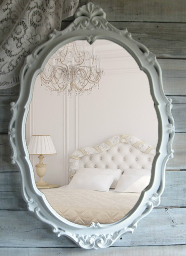 etsy shabby chic oval mirror home ideas pinterest. Black Bedroom Furniture Sets. Home Design Ideas