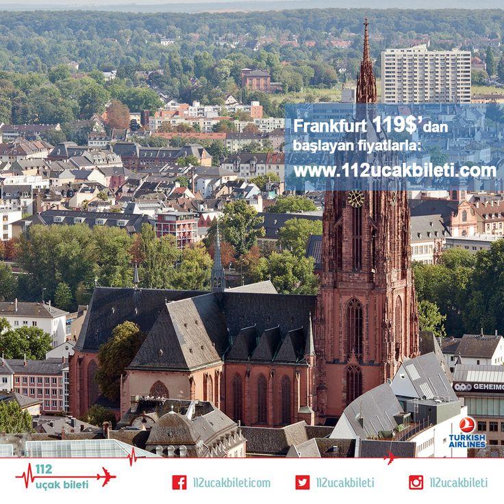 """#Frankfurt'ta tarihi dokuyu """"Kuşbakışı izleyeceğim, tepeden bakacağım'' diyorsanız Main Tower sizin için biçilmiş kaftan. Tabii ki yükseklik korkunuz yoksa. #uçakbileti"""