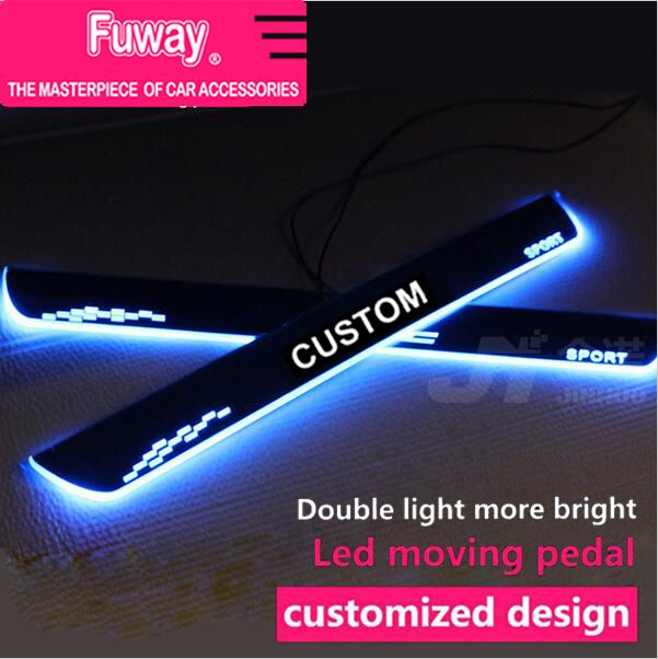 ==> [Free Shipping] Buy Best 2pcs Car Led moving door scuff car pedal door sill plate steps light welcome pedal for Honda Civic accord CRV City Jazz 2006-15 Online with LOWEST Price | 32708990946