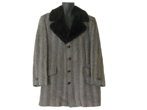 Men Winter Coat Men Wool Coat Tan Wool Coat от SecondhandObsession