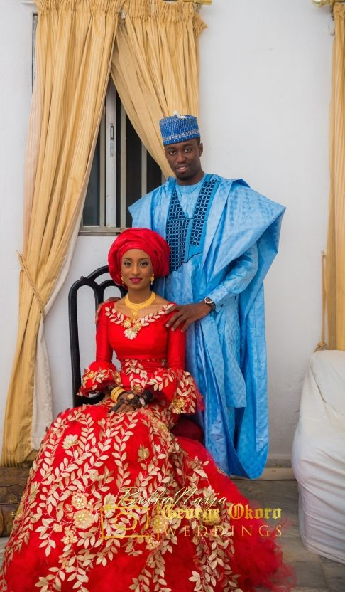 Aisha & Mustapha ~African fashion, Ankara, kitenge, African women dresses, African prints, Braids, Nigerian wedding, Ghanaian fashion, African wedding ~DKK