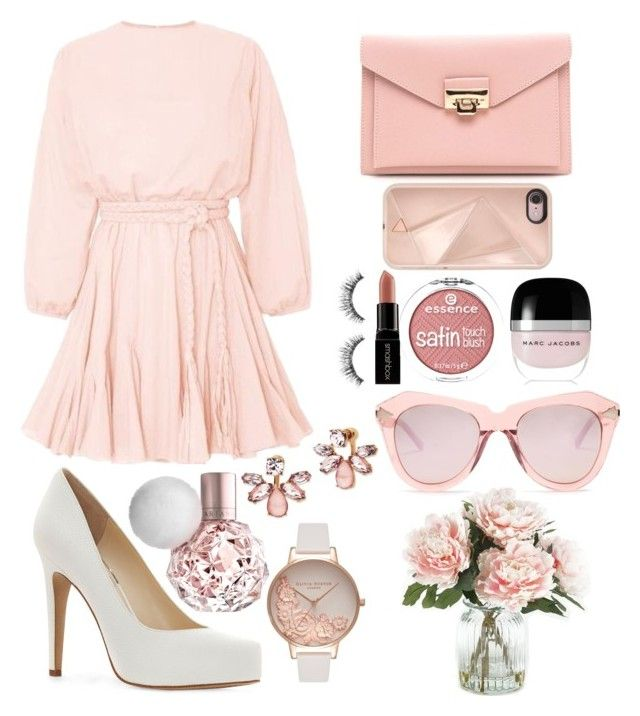 """""""😸💄🍸🍕🍉🍀💎♋🌟"""" by emmely201 on Polyvore featuring Jessica Simpson, Rebecca Minkoff, Marc Jacobs, Smashbox, Sephora Collection, Marchesa, Olivia Burton, Karen Walker and Home Decorators Collection"""