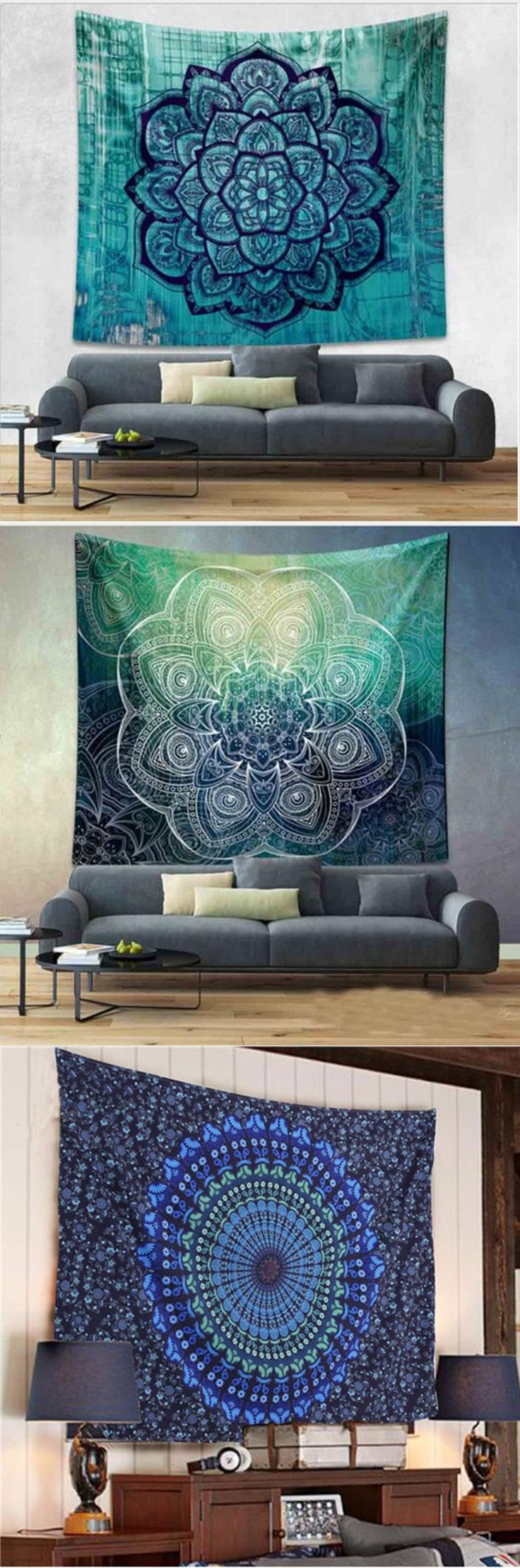 [Visit to Buy] 2017 Gifts Indian Square Mandala Tapestry Throw Mandala Colored Printed Blanket Hippie Beach Towel Yoga Mat Picnic Tablecloth #Advertisement