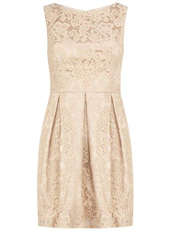 Beige lace skater dress by Dorothy Perkins