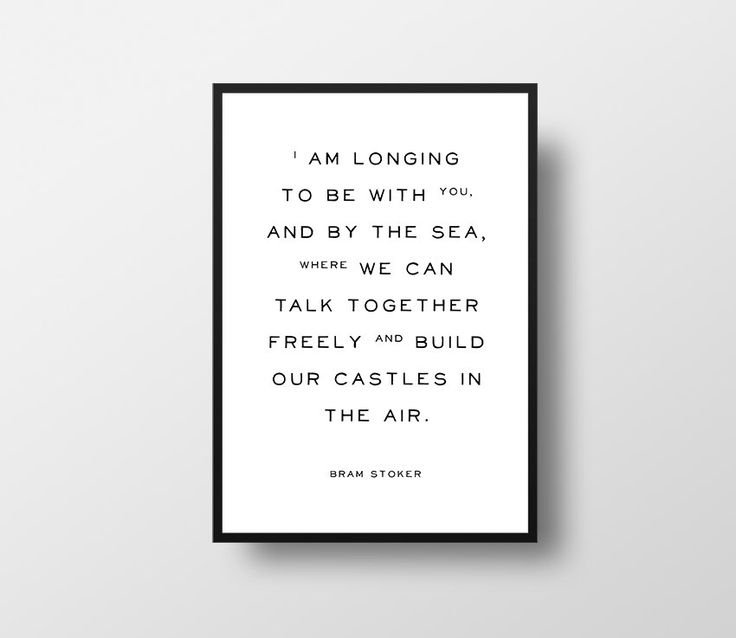 Bram Stoker, Dracula, Typographic Art, Quote Art, Etsy UK Seller, Dracula Quote, Book Quote, Romantic Quote, Castles in the air by TheBookwormPrints on Etsy https://www.etsy.com/listing/231443367/bram-stoker-dracula-typographic-art