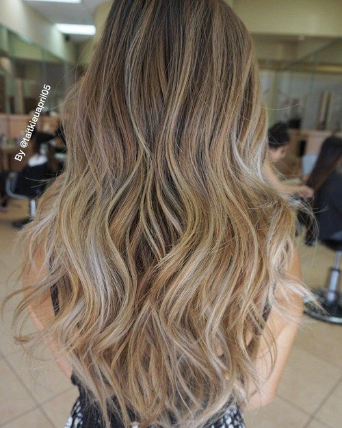 brown+hair+with+blonde+ombre+highlights